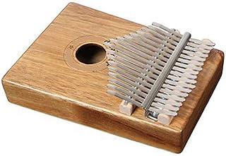 Kalimba, Helesin 17 Key Thumb Piano Solid Finger Piano with Locking System, Instruction and Tune Hammer Wood Natural Keyboard Marimba