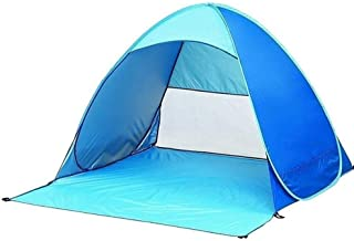 Pop-up Instant Portable Outdoor Fast Cabin Beach Tent Sun Awning, Blue q9j30y
