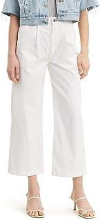 Levi's Women's Pleated Wide Leg Chino Pants