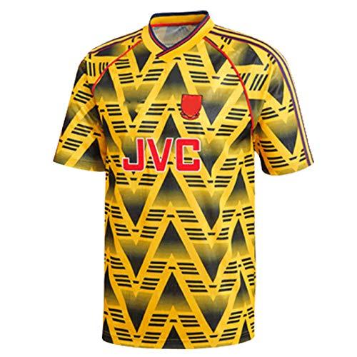 Retro Trikot 91/93 Saison Premier League Auswärtsspieler Schütze Thierry Henry Bogkamp Fußball T-Shirt kann wiederholt gewaschen Werden-S