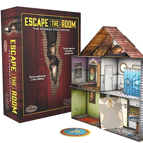 Think Fun Escape The Room The Cursed Dollhouse – an Escape Room Experience in a Box for Ages 13 and Up 7353