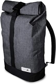 Small Water Resistant Urban Backpack Bag Perfect for The Beach - Shopping or Carry on Luggage with Room for Laptop Inside Ultralight Slim and Adjustable Straps and Roll Top