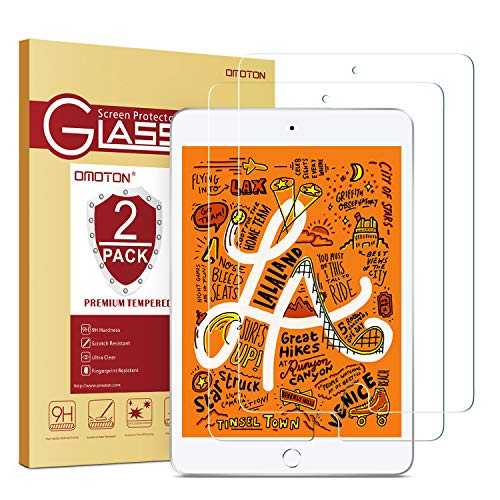 Lowest Price! OMOTON [2 Pack] Screen Protector for iPad Mini 5 2019 / iPad Mini 4 - Tempered Glass/A...