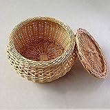 Cocina asiática vaporizador de alimentos con tapa de bambú natural pulgadas bambú hecho a mano cesta verduras cocina saludable 10.2in (Size : 10.2in)