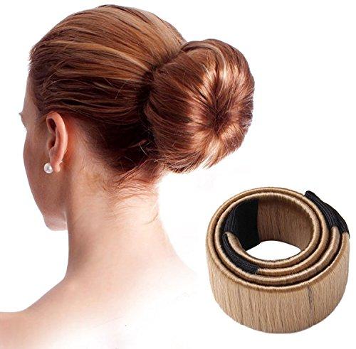 Oyfel. Chignon Magique Accessoires de Coiffure Bun Maker Set d'Outils de Coiffure Cheveux Coiffure Stylisée Accessoire Cheveux Filles Brun foncé Machi