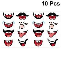 TOYANDONA 8パック口漫画ステッカー顔カバーステッカーラベル用装飾子供アートクラフトdiyスクラップブック(1パック10ピース)