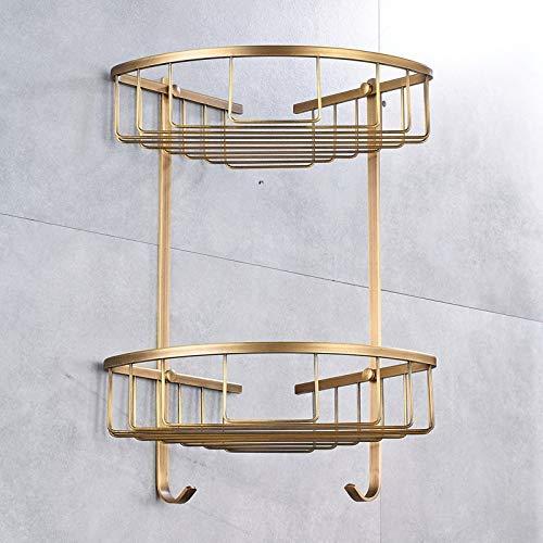 KYQ KYQXDB Suministros para el baño Baño para el baño Https://Www.Aliexpress.Com/Store/Product/Wall-Mount-Bathroom-Kitchen-Corner-Shlef-Antique-Brass-Cosmetic-Holder-Storage-Basket/927931_32349861702
