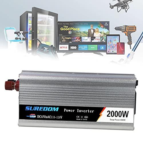 DDCHH Inversor Electrico de 2000W Convertidor de Voltaje de 24v a 230v,...