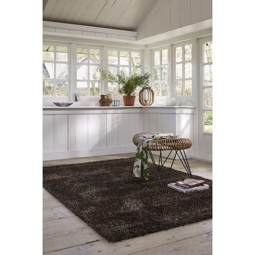 ESPRIT Cosy Glamour Moderner Markenteppich, Polypropylen/Polyester, Braun, 200 x 133 x 4 cm