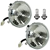 Caltric compatible with LH and RH Headlight W/Halogen Bulb Yamaha 2GU-84320-00-00 4SH-84320-00-00