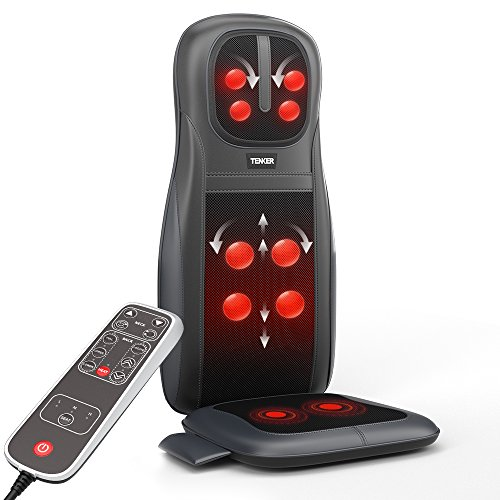 TENKER Shiatsu Neck and Back Massage Cushion with Heat & 3D Deep Kneading, Pressing, Rolling and...