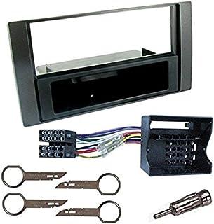 Sound-way Kit Montaggio Autoradio, Mascherina 1 DIN, Adattatore Connettore ISO, Adattatore Antenna, Chiavi di Smontaggio c...