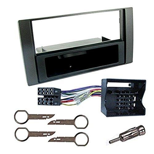 Sound-way Kit Montage Autoradio, Marco 1 DIN Radio de Coche, Adaptador Antena, Cable Adaptador Conector ISO, Llaves Desmontaje Compatible con Ford Galaxy, Fiesta, Focus, C-MAX, S-MAX, Transit