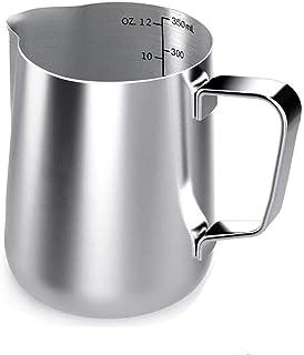 Voarge dzbanek na mleko, 350 ml / 12 FL.oz. dzbanek na mleko ze stali nierdzewnej, dzbanek do spieniania mleka do cappucci...
