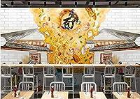 写真の壁紙手描きの中国の民俗カスタムヌードルレストラン装飾画の背景の壁リビングルームの壁の芸術の壁の装飾の家の装飾のための大きな壁壁画シリーズの壁紙-56.7x39.4inch/144cmx100cm