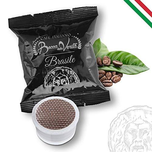 BOCCA DELLA VERITA Caffè Italiano - BRASILE - Confezione da 100 capsule, Compatibili con Macchina da Caffè Lavazza Espresso Point, 100% Made in Italy