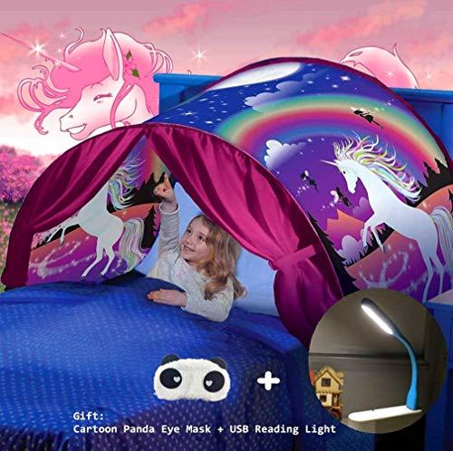 Nifogo Bettzelt,Bed Tents,Traumzelt,Dream Tent,Children's Tents,Kid's Fantasy,Drinnen Kinder,Space Tents,Jungen und Mädchen Weihnachten Geburtstagsgeschenk (Einhorn)