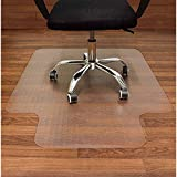 AiBOB Office Chair Mat for Hardwood Floors, 36 X 48 in, Heavy Duty Floor Mats for Computer Desk, Easy Glide for Chairs, Flat Without Curling