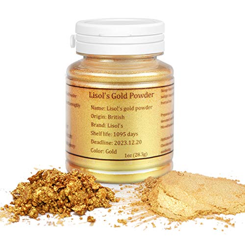 HomeHere Gold Luster Dust Edible Cake Gold Dust, 1oz