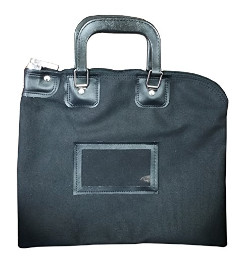 Locking Bank Bag Canvas with Hard Handles Black