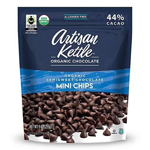 Artisan Kettle Organic Semisweet Mini Chocolate Chips, 10 Ounce (Pack...