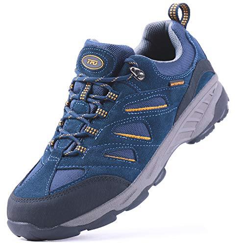 TFO Scarpe da Trekking da Uomo Scarpe da Ginnastica Antiscivolo Impermeabili e Traspiranti con Supporto alla Caviglia, Blu 2, 45