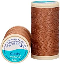 Coats Nylbond Sewing & Beading Thread (Bonded Nylon) For jeans, leather, elasticated fabrics & jewellery making - Brown 8646