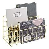 MORIGEM Briefablage Papierablage Gold Schreibtisch Organisation 3 Fach Ordnungssystem handgefertige...