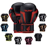 Boxing Gloves for Men, Women, and Kids, Elite Sports Kickboxing Punching Bag Pair of 2 Gloves (Red 6 Oz)