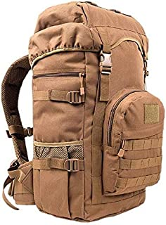 50L Unisex Military Army Style Outdoor Mountaineering Travel Backpack Shoulder Bag - Khaki