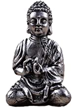 Ornaments Sculptures Buddha Decorative Resin Statue for Home Decorations Gift Figurine Home Decor Sculpture-Silver_7*11Cm
