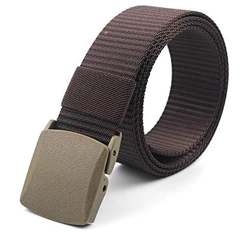 Miobo Cintura da lavoro unisex in nylon Canvas Cintura da lavoro per uomo e donna regolabile in tessuto con fibbia in plastica marrone Medium