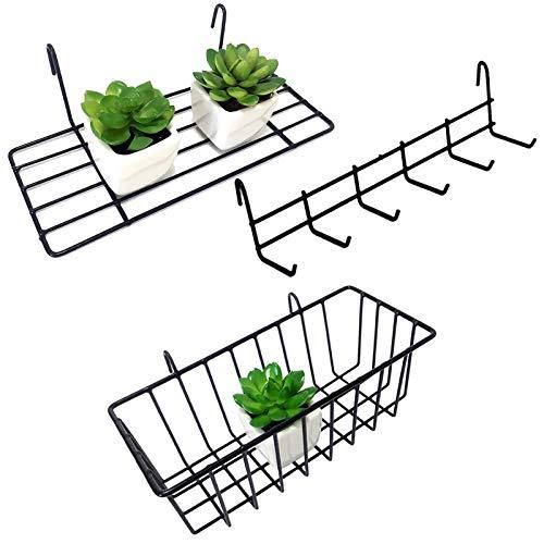 Gitterkorb für Pflanzen in Schwarz