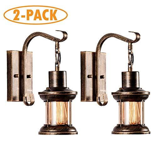 Vintage glazen wandlamp rustieke glazen wandlamp retro metaal zwart schilderij kleur wandlamp voor restaurant home bar slaapkamer nachtkastje gang decoreren (geen gloeilamp)