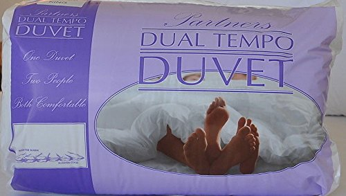 Euro Textiles Slight Second His & Hers Partners Duvet 7 TOG & 14 TOG Dual Tempo KING