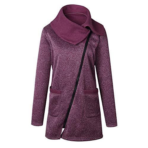Dames Oversized Casual Hoodies Jack, HOMEBABY Dames Lange Hooded Jas Lange Rits Sweatshirt Outwear Herfst Winter Lange mouw Topjes (UK 8-24)