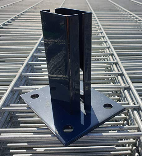 Fußplatte für Zaunpfosten (60x40mm) (Anthrazit (RAL 7016))