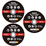 WORX WA6076.3-3 Discos de Corte Metal 76mm WX801/WX801.9