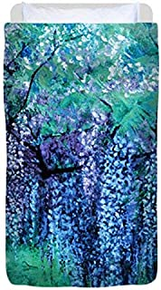 The Wind Whispers Wisteria, Ocean - Duvet Cover, Twin