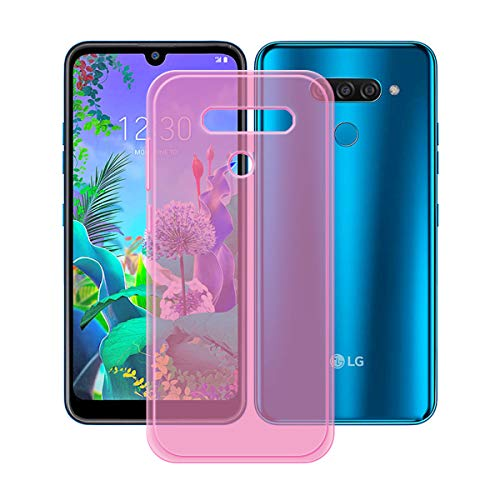 YZKJ Capa para LG K12 Max, luz de absorção de choque, mas durável, flexível, gel macio, cristal, capa de proteção de silicone TPU rosa para LG K12 Max (6,2 polegadas)