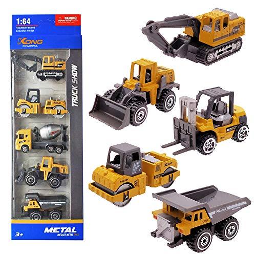 Vanplay Mini Auto Spielzeug Baufahrzeuge Kinder Bagger Metall Modell LKW Set für Kinder 3 4 5 Jahre zufällige Lieferung 5pcs