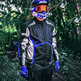 HWK Motorcycle Jacket for Men Cordura Motorbike Racing Biker Riding Breathable CE Armored Waterproof All-Weather (Blue, XXX-Large)