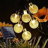 ソーラーストリング ライト ソーラーライト 屋外 防水 60電球 10.85M IP65 ソーラー イルミネーションライト 8モード 屋外 ソーラーライト イルミネーションライト 屋外 イルミネーションライト クリスマス/バレンタインデー/新年/祝日/結婚式/学園祭屋外/室外