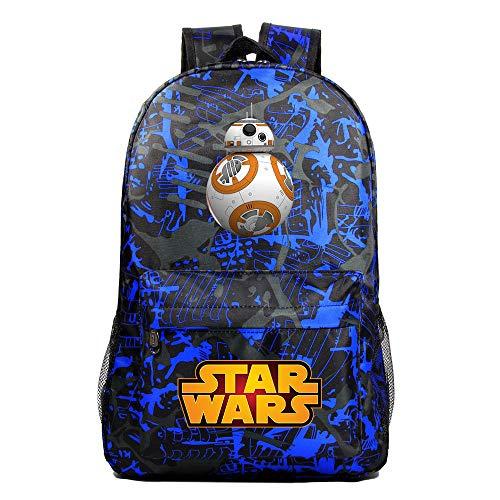Mochila Star BB-8 Wars, Mochila Casual para Adolescentes, Mochila Grande Ligera Escuela, Mochila de Senderismo de Viaje Medio color-14