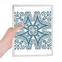 タラベラの装飾的なパターン青小話 硬質プラスチックルーズリーフノートノート