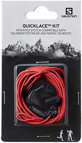 Salomon QUICKLACE KIT L32667400 Set de Cordones, Unisex, Rojo