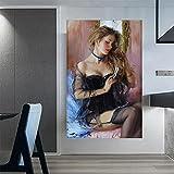 CloudShang Sexy Belleza Peinarse Cabello Poster Konstantin Razumov Pinturas Sexy Piernas Chicas Impresiones Realismo Pared Arte Moderno Salon Habitación Dormitorio Decoracion Cuadros I30145