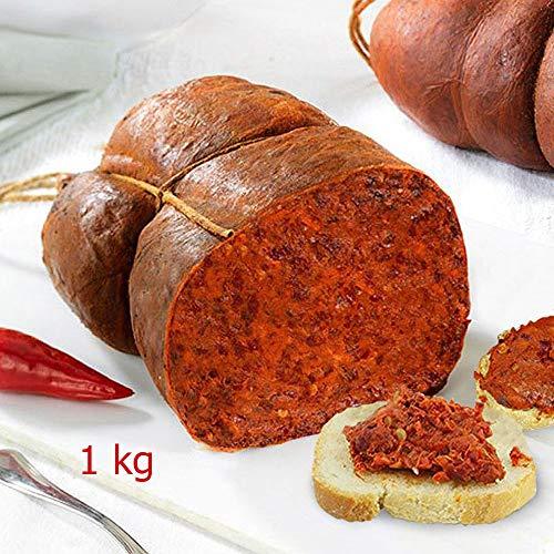 Nduja Original Nduja von Spilinga in mehreren Dosen von 500 gr. Sottovuta ohne Konservierungsstoffe