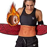 Iron Bull Strength Shred Belt V2 - Thermogenic Waist Trimmer for Men and Women - Premium Fat Burning Belt with Weight Loss Technology - Ab Toning Belt - Belly Fat Slimming Brace (Large)
