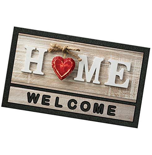 shabby welcome emmevi Zerbino Gomma 40x70 Welcome Home Shabby Chic Antiscivolo Tappeto Ingresso MOD.Format Print 6